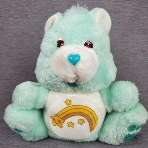 Vintage 1984 Care Bears Plush Piggy Bank Wish Bear